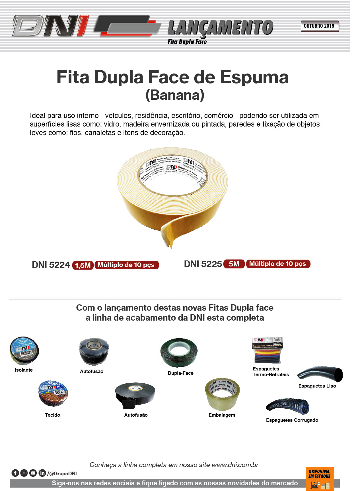 Fita Dupla Face Espuma Banana - OUT/19