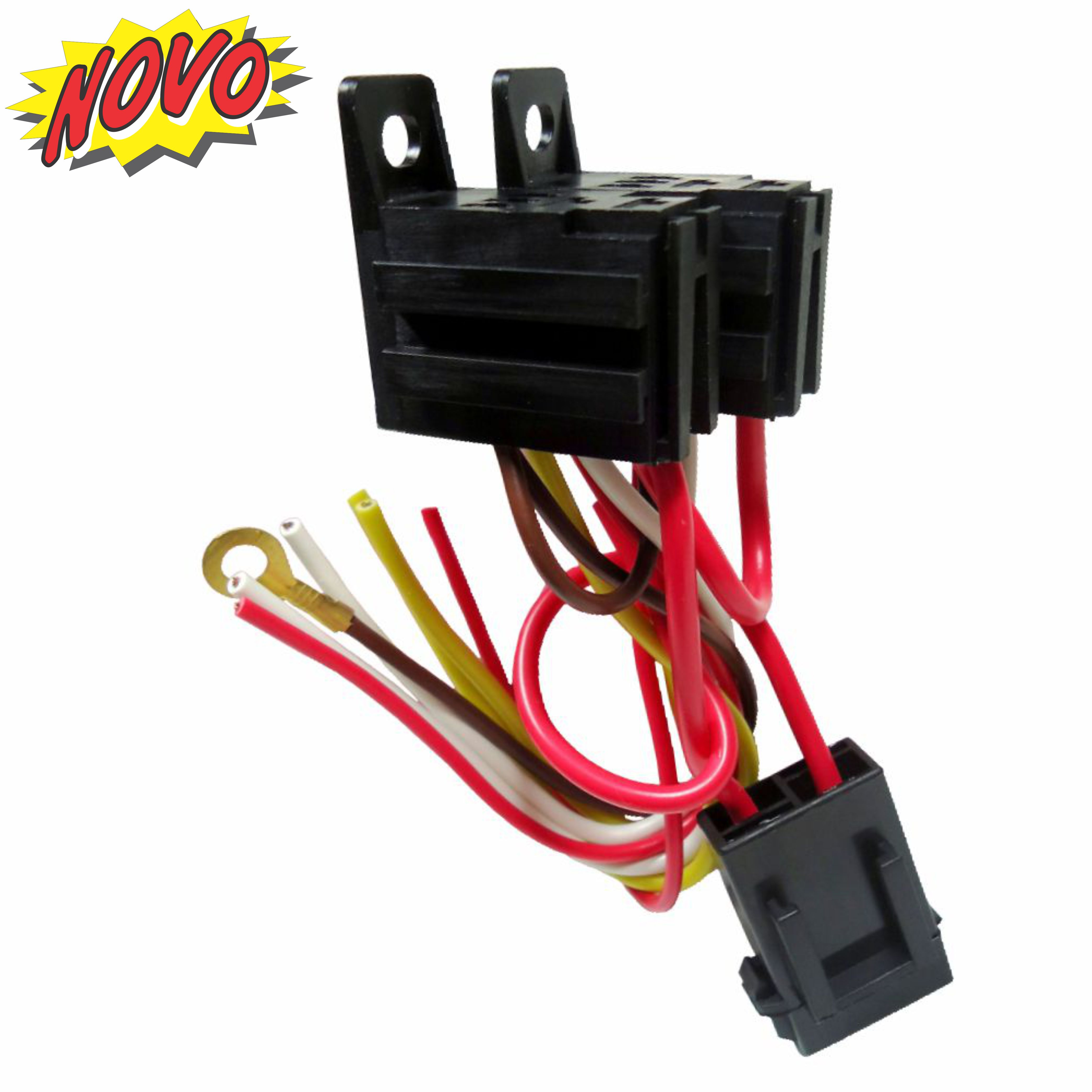 Dni7537 Harness With Fuse And Socket Double Mini Relay 4 Terminals Terminal 12 24v