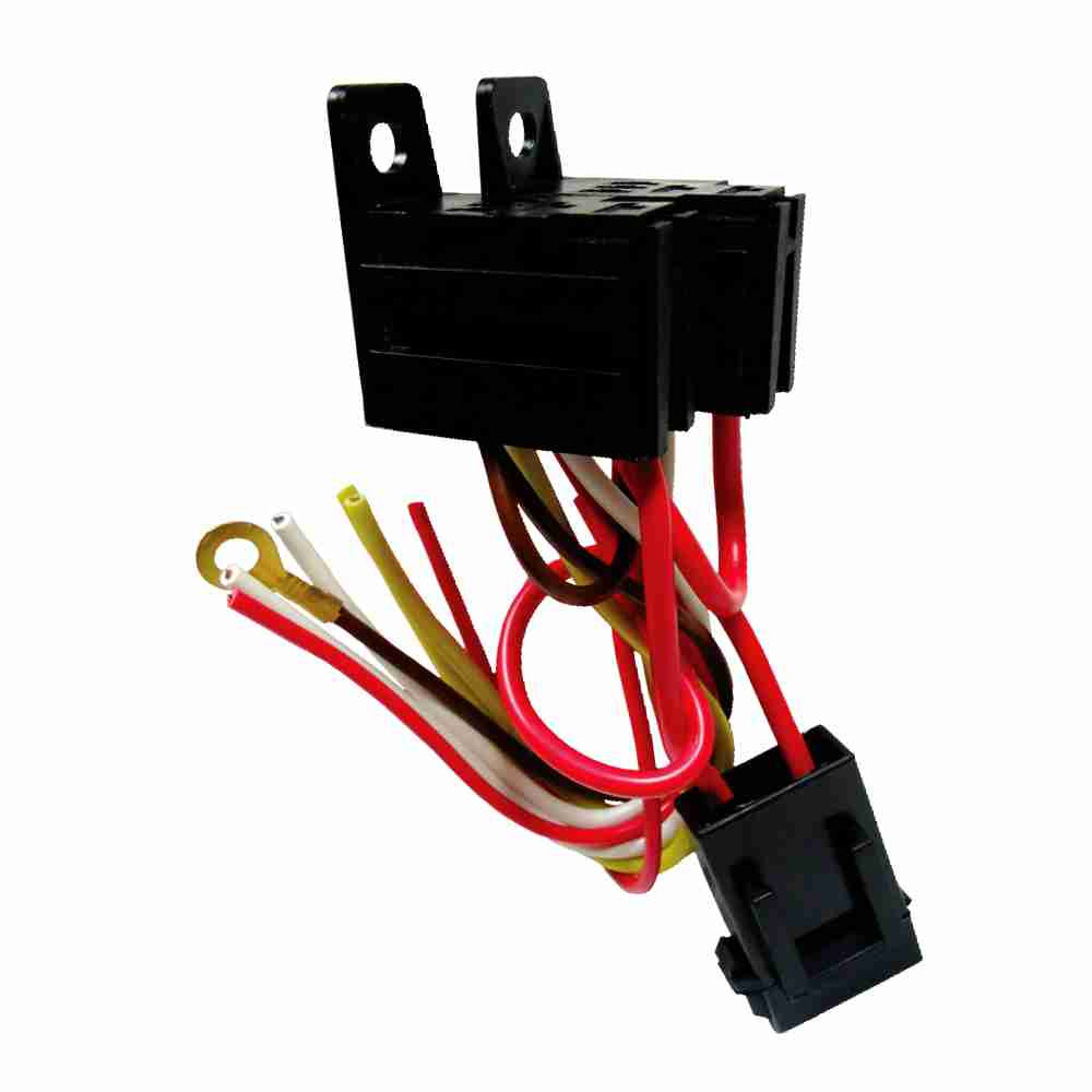 DNI7537 – Harness with Fuse and socket Double Mini Relay 4 Terminals – 12 / 24V