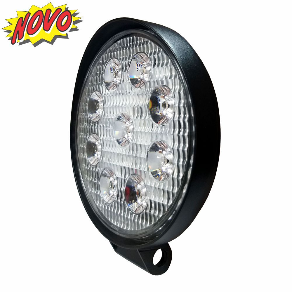DNI4159 – Round Work Slim Light with LEDs 9W – 9 to 32Vdc – Special for Tractors and Agricultural Machines