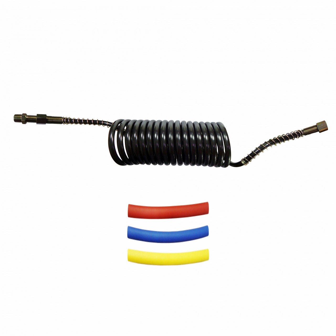 DNI8444 – Spiral Hose for Air Brake 6.5m Male 3/8 x Female M16 with Niple Kit Heat–Retractable Colors