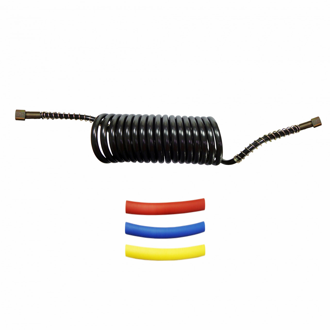 DNI8437 – Spiral Hose for Air Brake 4.5m Female x Female M16 with Heat Shrink Kit Colors