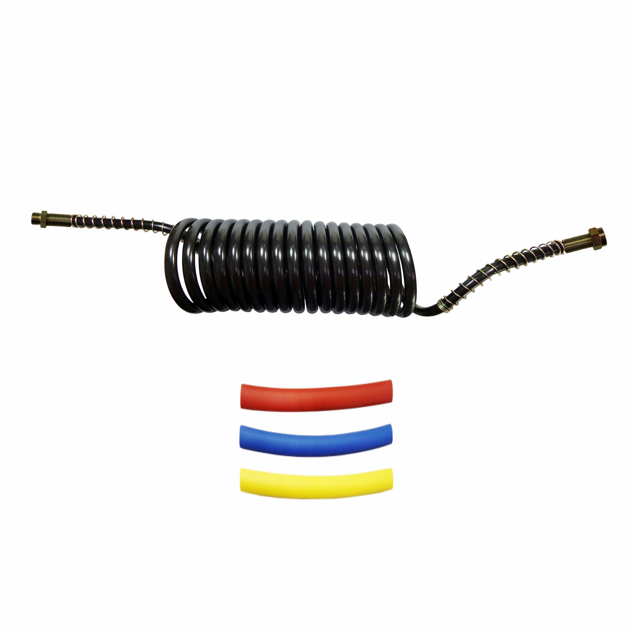 DNI8431 – Spiral Hose for Air Brake 5.5m Male M16 x Female M18 with Heat Shrink Kit Colors