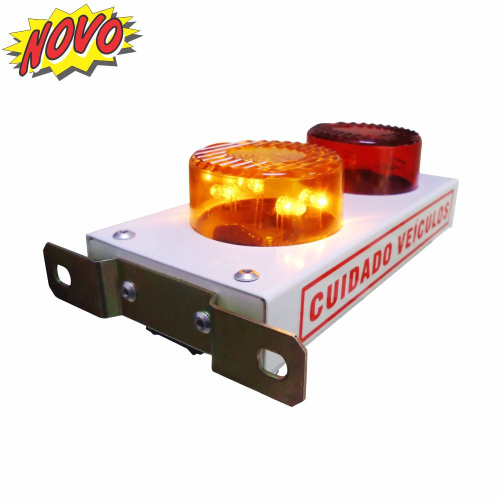 DNI6971 – Mini White Garage Indicator with LED and Beeper Bivolt