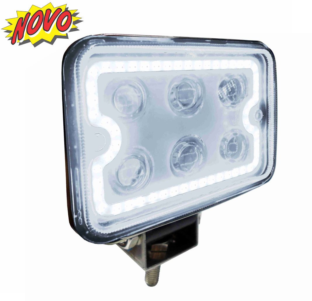 DNI4182 – Rectangular Work Light LEDs BR C / Rim BR 18W – 9 to 48VDC