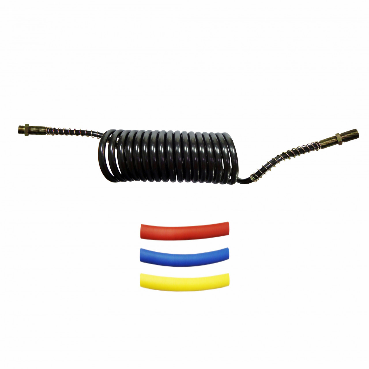 DNI8447 – Spiral Hose for 5.5m air brake Male M16 x Male M18 with Heat Shrink Kit Colors