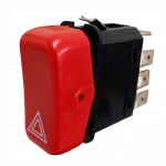 DNI2102 - Warning Hazard Light Switch MBB/Agrale/Marcopolo/Volare – 12V