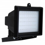 DNI6046 - Economic Reflector with 45 LEDs Bivolt 4,5W - Black