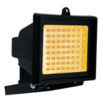 DNI6054 - Reflector with 60 LEDs Amber Bivolt 6W - Black