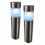 "DNI6119 - lamp solar Balizadora blue LED, Stainless - Model ""Poste"""