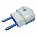 DNI 7023 - Collapsible plug, 2P, 10A - 127 ~ 250Vac