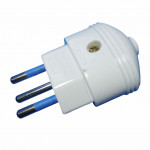 DNI 7024 - Collapsible plug, 2P + T, 10A - 127 ~ 250Vac