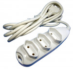 DNI 7133 - Extension Cord 3m (Tom 3), P 2, 10A - 127 ~ 250Vac