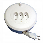 DNI 7153 - Electric Extension Reels 5m -3 plugs (2 pins).