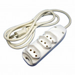 DNI 7233 - Extension Cord 3m (3 Key), 2 P + T, 10A - 127 ~ 250Vac