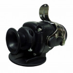 DNI8399 - Electrical socket Round Hitch 15 Polos Male w / lighting, ABS and Tracker - Black Nylon - 12 / 24V