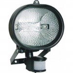 DNI6018 - Halogen reflector with Presence Sensor - Bivolt 127 / 220V - 500W - Black