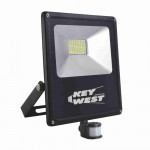 DNI6037 - floodlight spotlight 100W LED Slim  with Sensor Cold White  - Bivolt