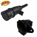 DNI8317 - Coupling Socket (Male + Female) with 7p Round Polarized Nylon Extender / Extender
