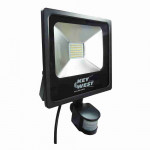 DNI6035 - floodlight spotlight 30W LED Slim  with Sensor White Cold  - Bivolt