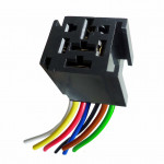 DNI7526 - Harness with Socket 7 Relays Terminals 3 Terminals Wide - 12 / 24V