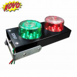 DNI6975 - Traffic Light Bivolt 127 / 220V Parking Indicator - Black