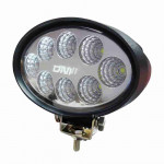 DNI4165 - Oval Work Light with LEDs 24W - 9 to 48Vdc - Special for Tractors and Agricultural Machines