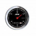 DNI4504 - Hourmeter chrome Rim and Black Background With Illumination 52mm Bivolt Universal