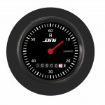 DNI4502 - Hourmeter Black Rim and Black Background With Lighting and Shock Absorber 52mm Universal Bivolt