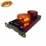 DNI6970 - Mini Black Garage Indicator with LED and Beeper Bivolt