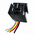 DNI7521 - Whip with Socket relays 4 Terminals 2 Terminals Wide - 12/24V