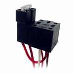 DNI7511 - Harness with Fuse and Socket Relay 4 Terminals - 12 / 24V