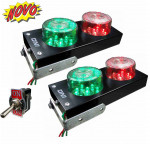 DNI6976 - Traffic Light Bivolt 127 / 220V Parking Indicator - Black - KIT