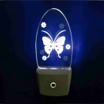 """DNI6153 - Night Light Automatic Bivolt - Butterfly - """"With Movement"""""""