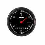 DNI4501 - DNI4501 - Hourmeter Black Background and Black Bezel With Illumination 52mm Universal Bivolt