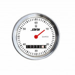 DNI4504-BR - Hourmeter chrome Rim and White Background With 52mm Bivolt Universal Lighting