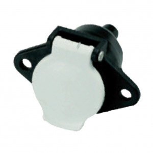 "DNI8314 - Electric socket coupling round 7 poles female (Fixed) type ""S"" - Black/White Nylon - 12 / 24V"
